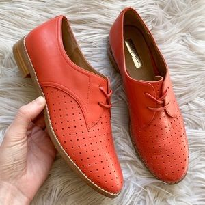Halogen Lauer Genuine Leather Perforated Oxfords 7